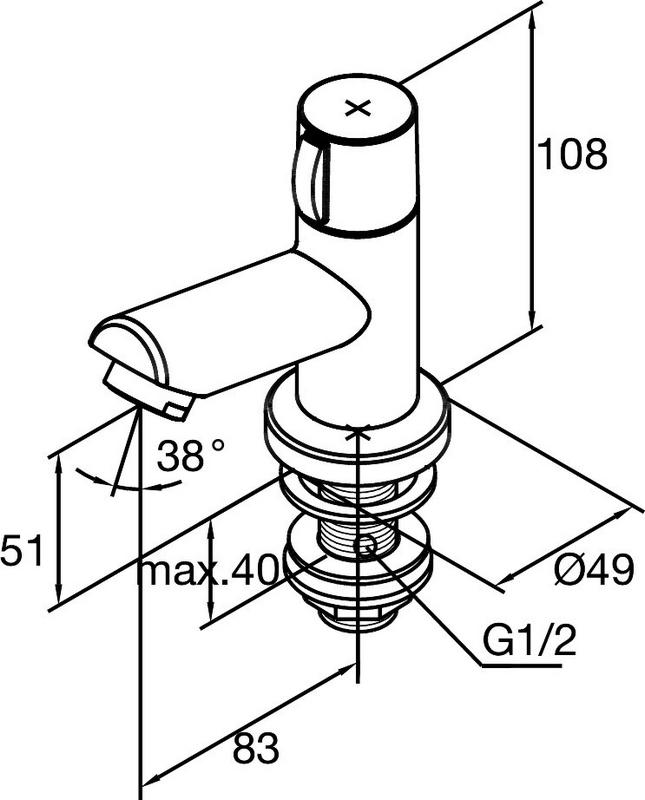 damixa titan robinet lave mains 62830 00 chrome. Black Bedroom Furniture Sets. Home Design Ideas