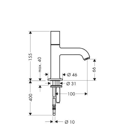 axor uno robinet lave mains 38130000. Black Bedroom Furniture Sets. Home Design Ideas