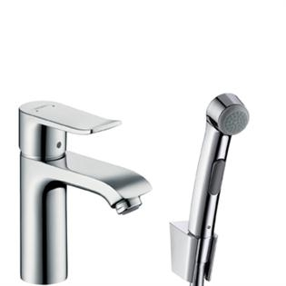 hansgrohe metris set pour bidet avec douchette 31285000 chrome. Black Bedroom Furniture Sets. Home Design Ideas
