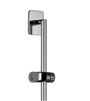 Dornbracht lulu barre de douche avec curseur 26 701 710 06 platine mat - Curseur barre de douche ...