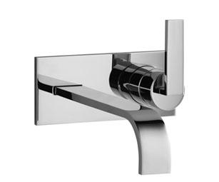 dornbracht mem fa ade de mitigeur monocommande de lavabo mural chrome sur plaque de recouvrement. Black Bedroom Furniture Sets. Home Design Ideas
