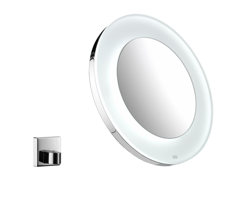 emco vision miroir rond avec led rechargeable 109600113. Black Bedroom Furniture Sets. Home Design Ideas