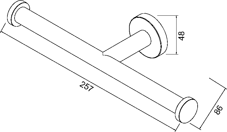 Geesa nemox porte rouleau de papier toilette double 651802 - Porte rouleau papier toilette ...