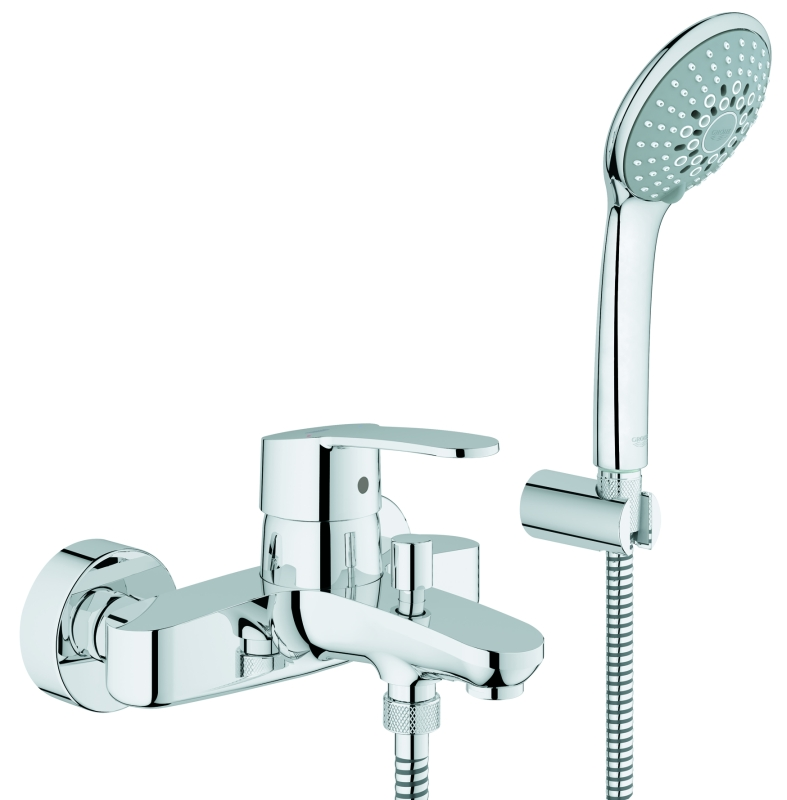 grohe eurostyle cosmopolitan mitigeur mural de bain douche avec set de douche 33592002 chrome. Black Bedroom Furniture Sets. Home Design Ideas