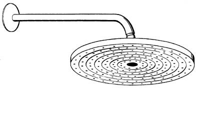 hansgrohe raindance s 240 air douche de t te avec bras de douche 389 mm 27474000 chrome. Black Bedroom Furniture Sets. Home Design Ideas