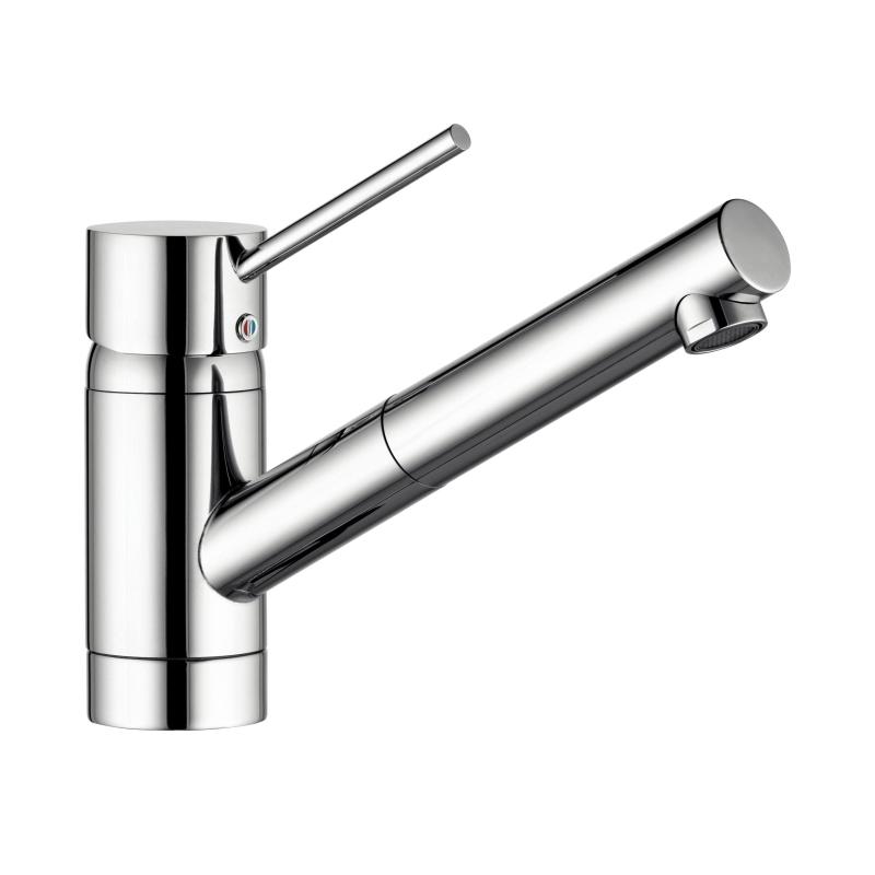 Kludi scope mitigeur d 39 vier bec extractible acier inox for Evier inox solde