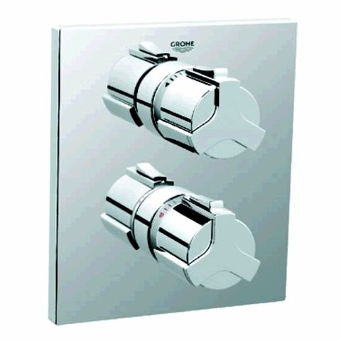grohe allure fa ade pour mitigeur thermostatique douche 19380000 chrome. Black Bedroom Furniture Sets. Home Design Ideas