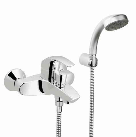 grohe eurosmart mitigeur de bain douche avec set de douche 33302001 chrome. Black Bedroom Furniture Sets. Home Design Ideas