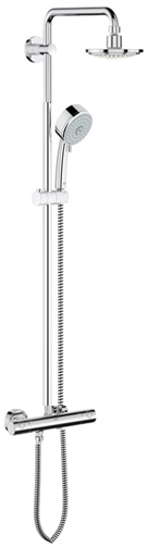 Grohe new tempesta cosmopolitan ensemble de douche thermostatique 27922 000 chrome - Ensemble douche thermostatique grohe ...