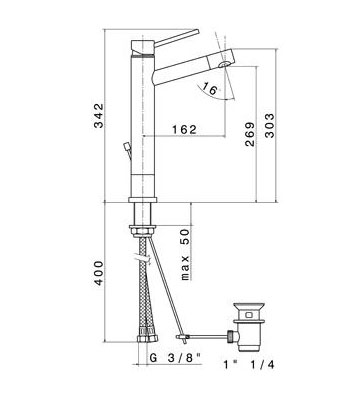 newform x trend mitigeur pour vasque poser chrome. Black Bedroom Furniture Sets. Home Design Ideas