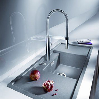 Blanco culina s mitigeur d 39 vier douchette finish inox for Evier inox solde
