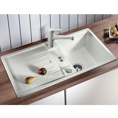 blancolexa 45 s silgranit vier 1 cuve encastrer par le haut alum tallic 514 653. Black Bedroom Furniture Sets. Home Design Ideas
