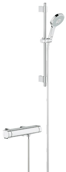 grohe new grohtherm 2000 mitigeur thermostatique de douche avec set de douche power soul. Black Bedroom Furniture Sets. Home Design Ideas