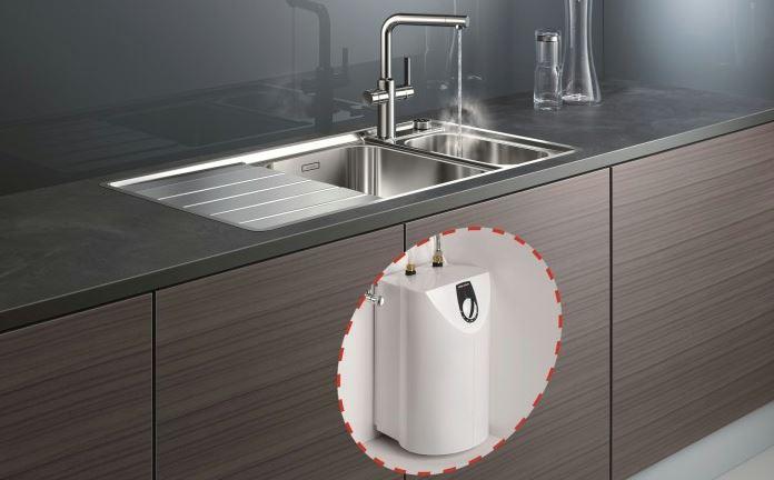 blanco hot robinet mitigeur de cuisine eau bouillante 519064 chrome. Black Bedroom Furniture Sets. Home Design Ideas