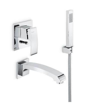 newform x sense ensemble de bain douche encastrer chrome. Black Bedroom Furniture Sets. Home Design Ideas