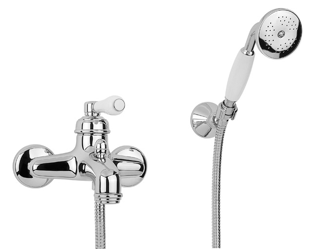 robinetterie r tro mitigeur mural de bain douche chrome v 9030 ch. Black Bedroom Furniture Sets. Home Design Ideas