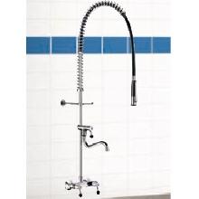 delabie robinetterie de grande cuisine m langeur mural de pr lavage douchette 5634. Black Bedroom Furniture Sets. Home Design Ideas