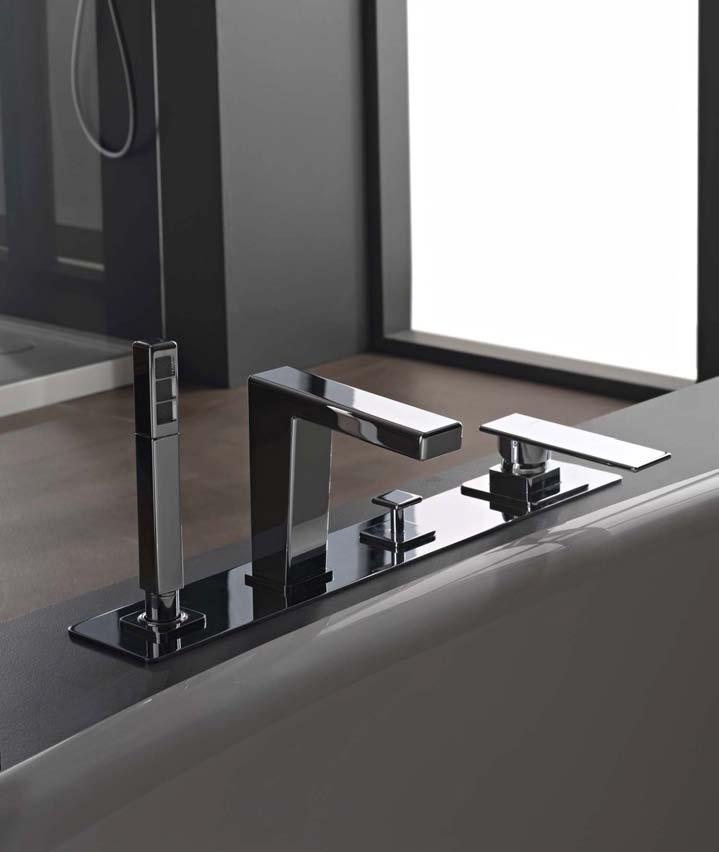 zazzeri toscano mitigeur bain douche sur gorge 4 trous. Black Bedroom Furniture Sets. Home Design Ideas