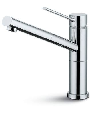 Newform x skip robinet mitigeur d vier douchette inox for Evier inox solde